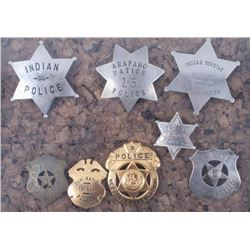 Collection of Native American Police Badges