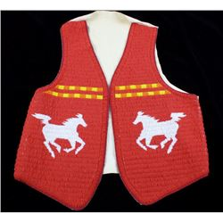 Sioux Fully Beaded Mustang Pictorial Vest c.1960's