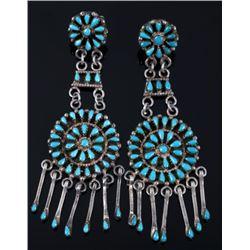 Navajo Sterling & Turquoise Petite Earrings & Ring