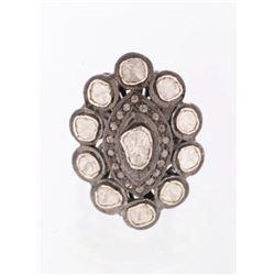Art Deco Rose Cut & Mine Cut Diamond Ring 1920's