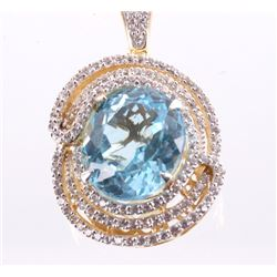 21.45 ct Topaz & Sapphire Necklace w/ papers