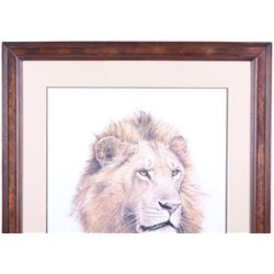 Signed 1988 Guy Coheleach African King Lithograph