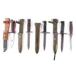 Assorted Military Bayonets & Combat Knives