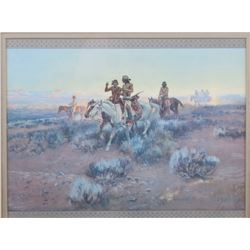 Charlie M. Russell Indian Scouts Framed Print