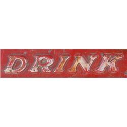 Drink Coca Cola Red Metal Sign