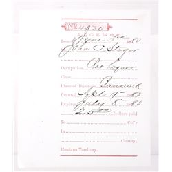 Collection of Montana Territory Business Licenses