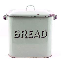Metal & Porcelain Enamel Breadbox Circa 1950's