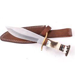 German Deer Tine Handle Stainless Steel Knife