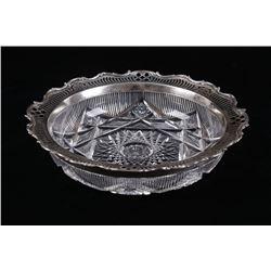 Gorham Sterling & Crystal Serving Bowl c. 1900