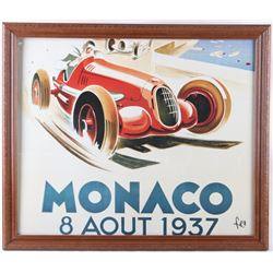 1937 Monaco 8 Aout Signed by Fico Poster