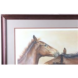 "Artist Proof Lithograph ""Weanling's"" By Fred Stone"