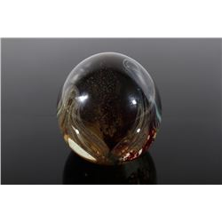 Polychrome Glass Art Orb Paperweights