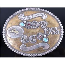 Cedar Creek Sterling & Gold Plate Belt Buckle