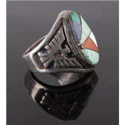 Navajo Multi-Gemstone Sterling Silver Ring