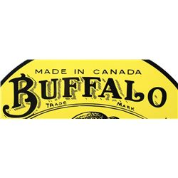 Buffalo Motor Oil Sheet Metal Motor Oil Sign