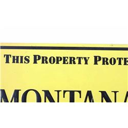 Early Montana Farmer-Stockman Tin Sign