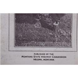 Mid 1900's Old Montana Dept. of Hwys. Brochure