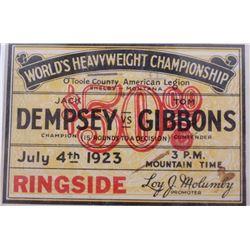 Dempsey Vs. Gibbons World Heavyweight Championship