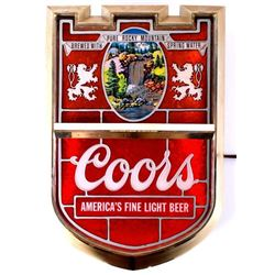 1980's Coors Light Beer Light Up Advertising Sign
