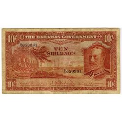 Bahamas Government, 1919 Currency Note Act (1930) Issue Banknote.