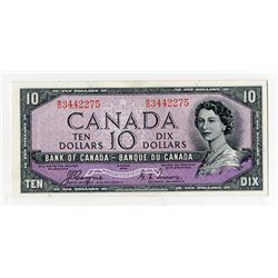 "Bank of Canada, 1954 ""Devil's Face"" Issue $10 Banknote."