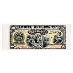 Canadian Bank of Commerce, 1888 Proof Banknote.
