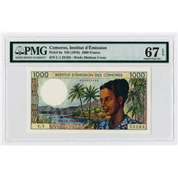 Comoros, Institut d'Emission, ND (1976) High Grade Issue Banknote.