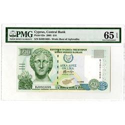 Kibris Merkez Bankasi. 2005. Issued Banknote.