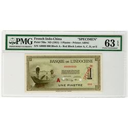 Banque de L'Indochine. ND (1951). Specimen Banknote.