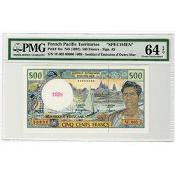 Institut d'Emission d'Outre-Mer. ND (1992). Specimen Banknote.