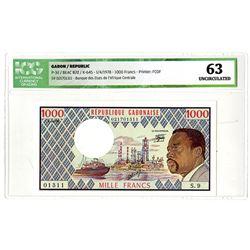 Republique Gabonaise. 1978. Issued Banknote.