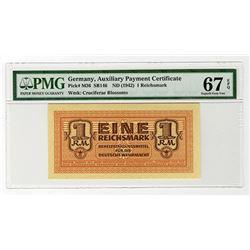 Deutsche Wehrmacht. 1942. Auxiliary Payment Certificate.