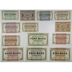 K_ln and K_nigsbrÙck Officer POW Camps. 1918. Group of 13 Notgeld.