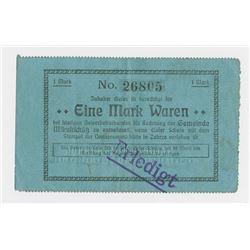 Notgeld Issues. 1914. MikultschÙtz Issue Note.