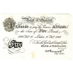 Bank of England, 1938 Bernhard Forgery Banknote