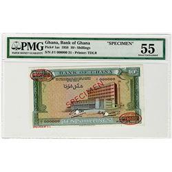 Bank of Ghana. 1958. Specimen Banknote.