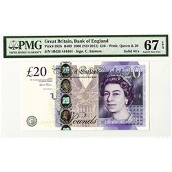 Bank of England. 2006 (ND 2012) Issue Banknote With Solid #4's