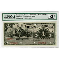Banco Americano. ND (1895-1920). Specimen Banknote.