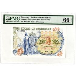 State of Guernsey, British Administration, ND (1975-80) Issue Banknote