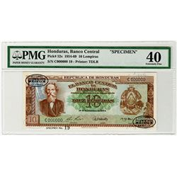 Banco Central de Honduras. 1954. Specimen Banknote.