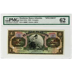 El Banco Atlantida. 1932. Specimen Banknote.