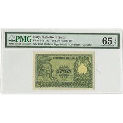 Biglietto di Stato. 1951. Issued Banknote.
