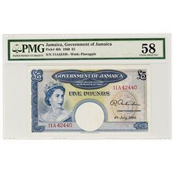 Government of Jamaica, 1960 Issue Banknote.