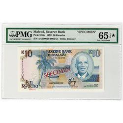 Reserve Bank of Malawi. 1992. Specimen Banknote.