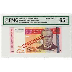 Reserve Bank of Malawi. 2005. Specimen Banknote.