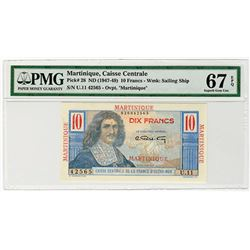 Caisse Centrale de la France d'Outre-Mer. ND (1947-1949). Issued Banknote.