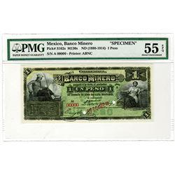 Banco Minero. ND (1888-1914). Specimen Banknote.