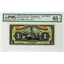 Banco de Guanajuato. ND (1914). Specimen Banknote.