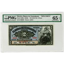 Banco de Guanajuato. ND (1913-1914). Specimen Banknote.