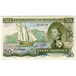 "Government of Seychelles, 1973 ""SEX"" Issue Banknote."